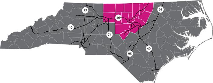 Coverage Area Map